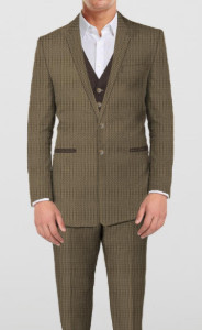 Green-Brown - 3 piece suit -by The Tailor Network