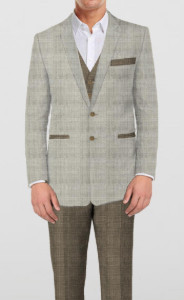 Modern Conservative Suit - 3 Piece - by The Tailor Network