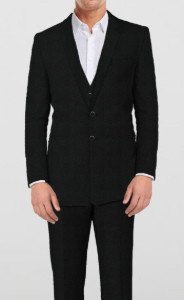 Classical Black - 3 Piece Suit - by The Tailor Network