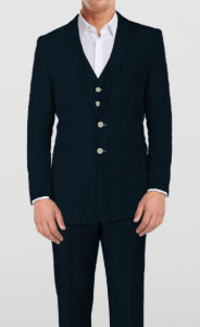 Classic Blue Suit- 3 Piece - by The Tailor Network