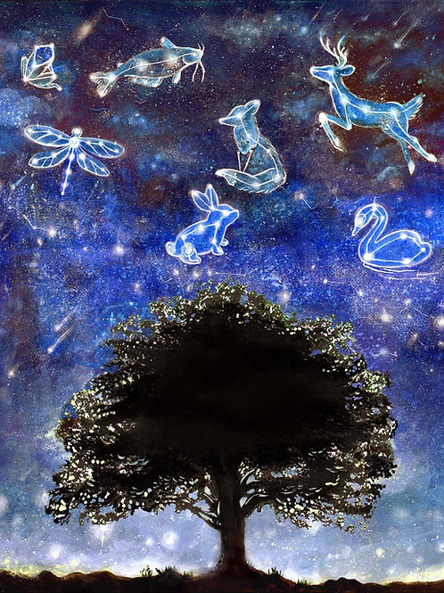 The Star Strewn Sky, Original painting and Prints
