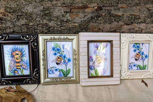 Mini Gallery Framed Bee Prints