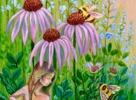 Helping Our Native Bees; Flowers, Art, and Community