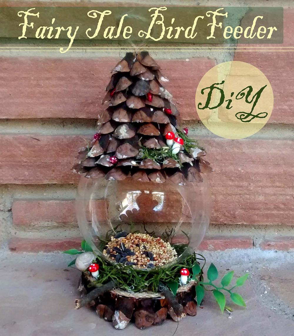 fairy tale bird feeder