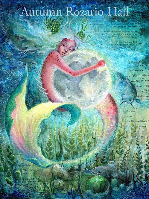 Borrow the Moon, Mermaid print