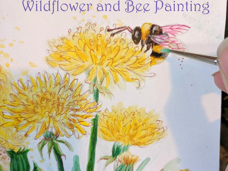 Wild Flower Bee Commissioned Painting Pricing and Info.
