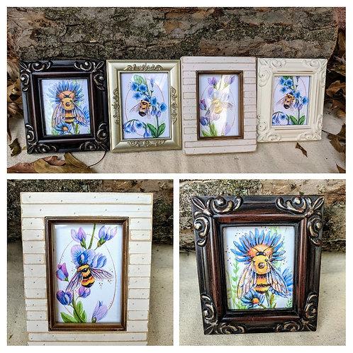 Mini Gallery Framed Bee Prints