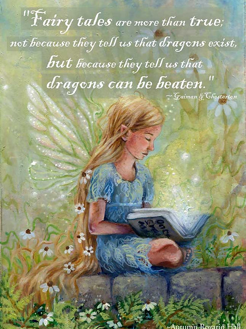 Stone and Story with Fairy Tale Quote, Prints