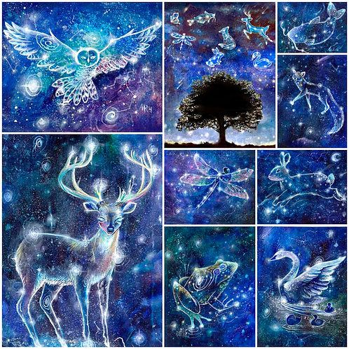 "Constellation Choice of 3 5""x7"" Print Set"