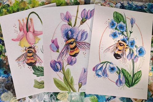 3 Bee Prints