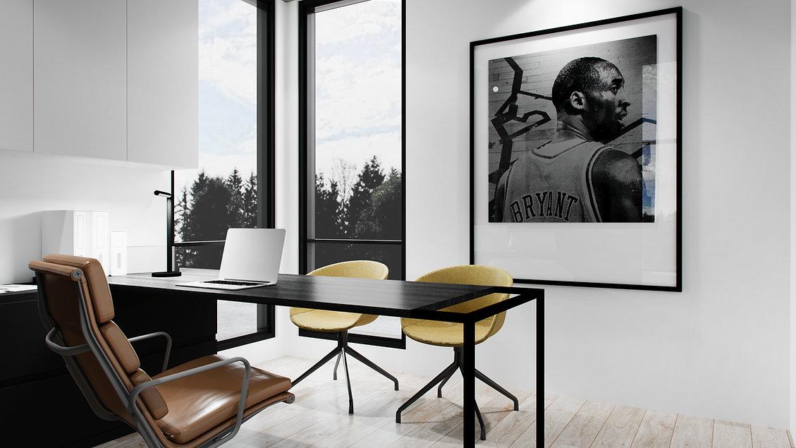 les-stéphanies-chaleureux-minimaliste-bois-chêne-blanc-bureau-noir-rangement-laque-filière-chaise