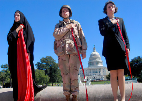 """Triplets and the """"Costs of War,"""" U.S. Capitol, DC"""