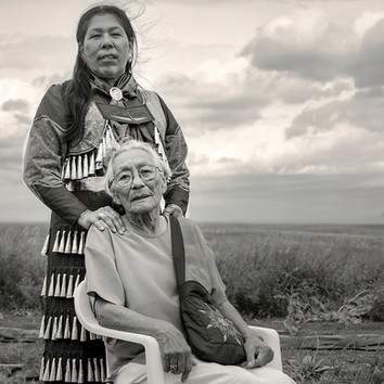 Lakota Madonna Thunderhawk and Her Mother, South Dakota
