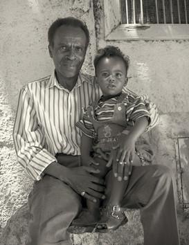 Suleiman Idris and child Abdel Al Qadi