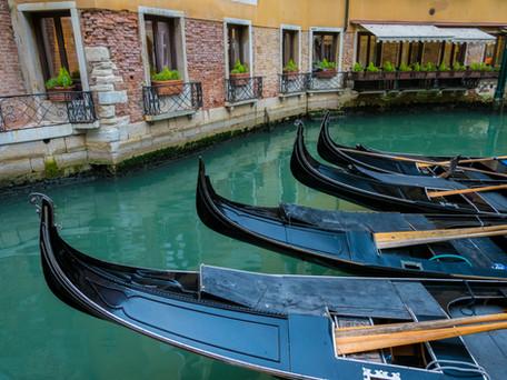 Gondolas Waiting for Riders