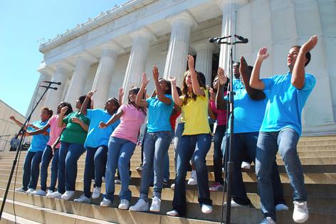 Dancers, Lincoln Memorial, Washington DC