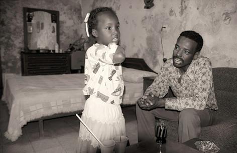 Adnan and his daughter Hibeh