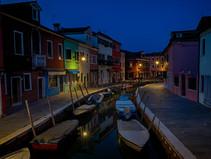 Burano Canal at Night