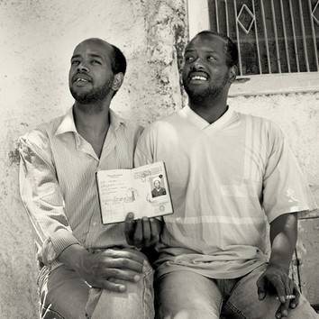 Brothers with Fathers passport from Chad