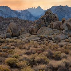 Dusk in the Sierras