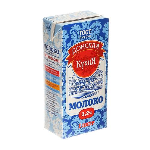 """Молоко """"Донская Кухня"""" 3,2% ультрапастеризованное, 1 л."""