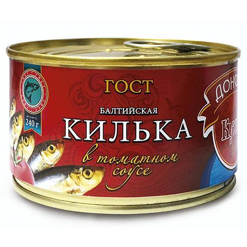"""Килька балтийская """"Донская кухня"""" в томатном соусе, 240 г"""