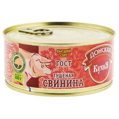 """Свинина """"Донская кухня"""" тушеная, 300 г"""