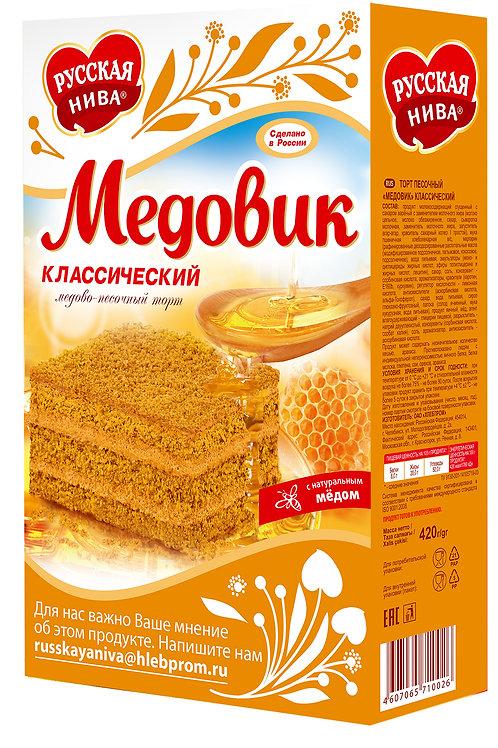 """Торт """"Русская нива"""" медовик, 420 г"""