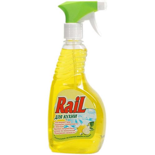 Средство для мытья кухонных поверхностей RAIL, 500 мл (с распылителем)