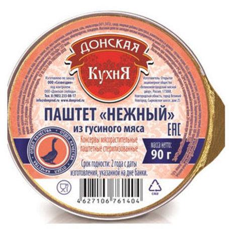 """Паштет """"Нежный"""" из гусиного мяса """"Донская кухня"""", 90 г"""
