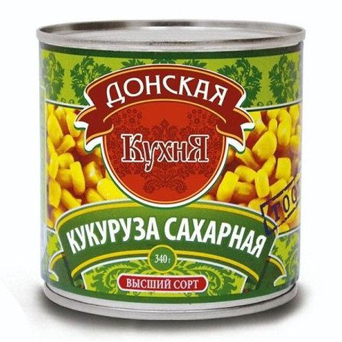 """Кукуруза """"Донская кухня"""" сахарная, 425 мл"""