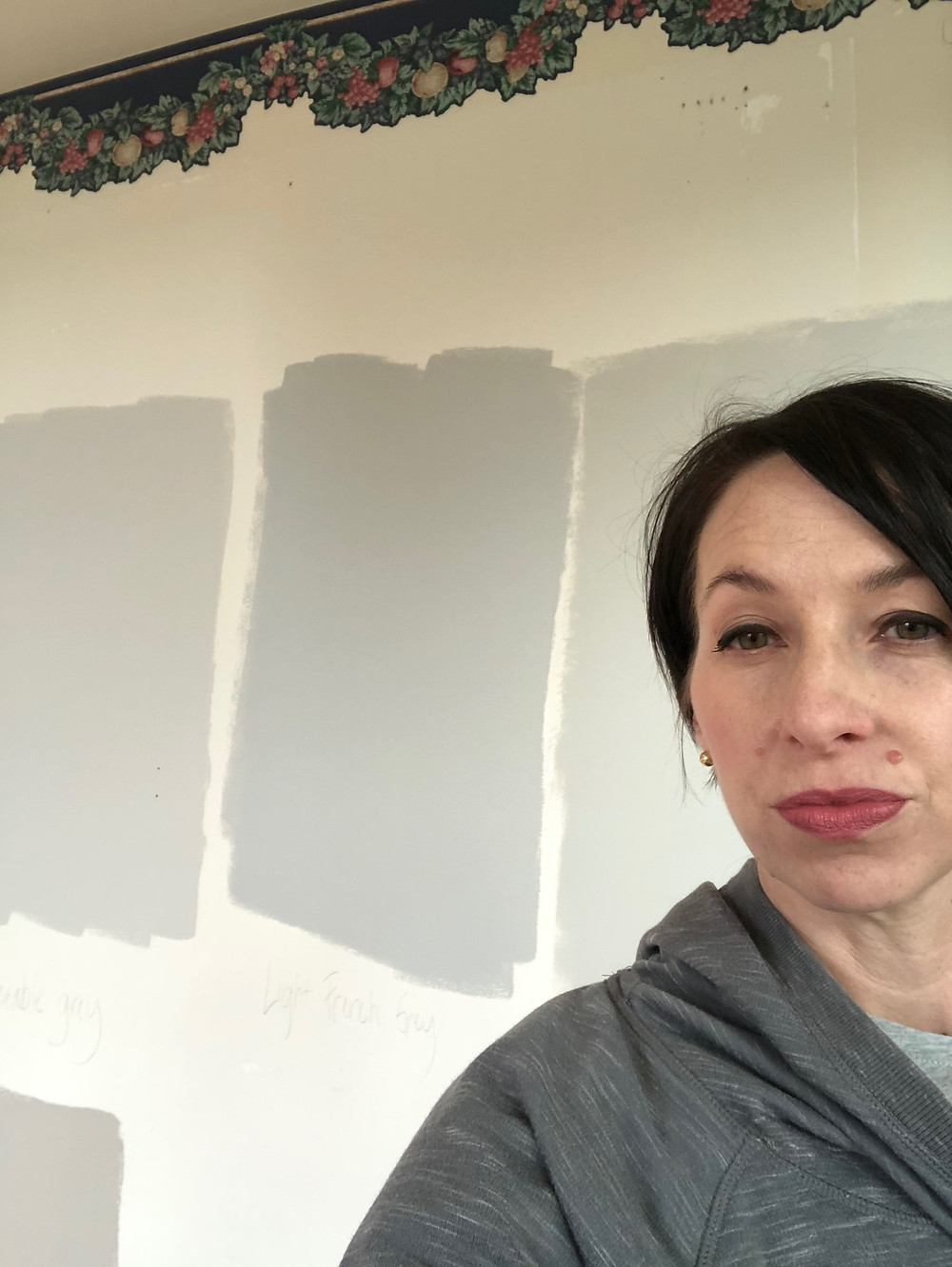 Testing paint colors
