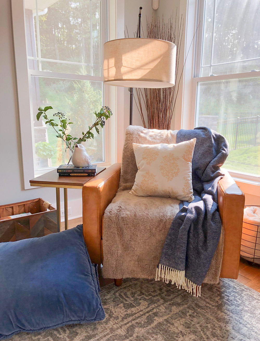 Jennifer Janeway Designs - fall reading nook
