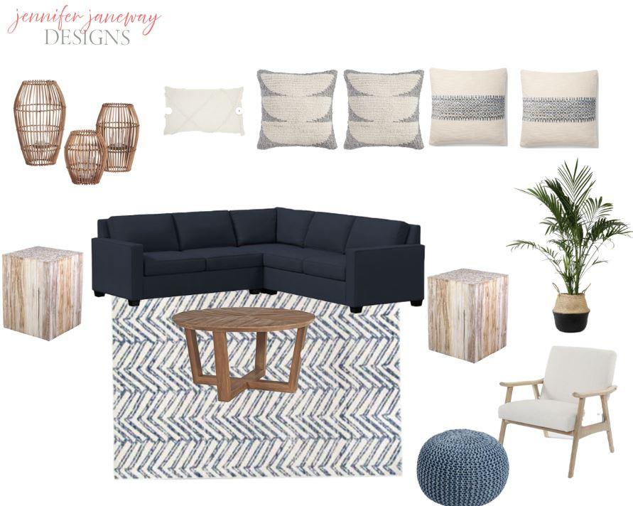 A coastal moodboard - Jennifer Janeway Designs