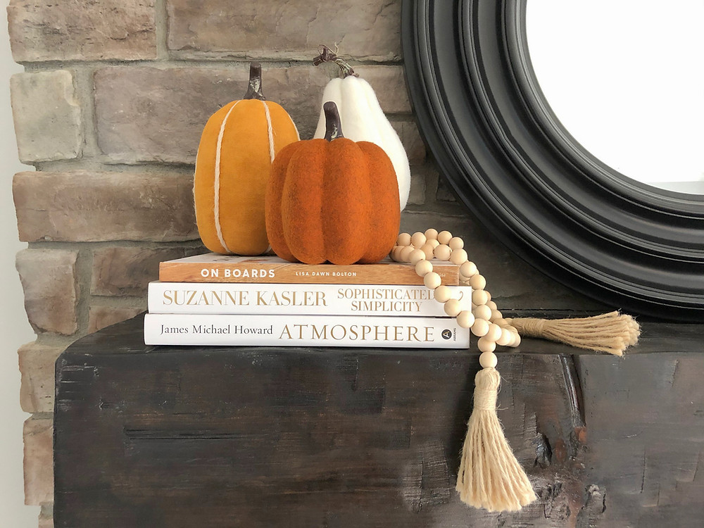 Jennifer Janeway Designs - fall mantle decor