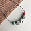 Thumbnail: Terrazzo 5 bead Teething Necklace - grey cord and clasp