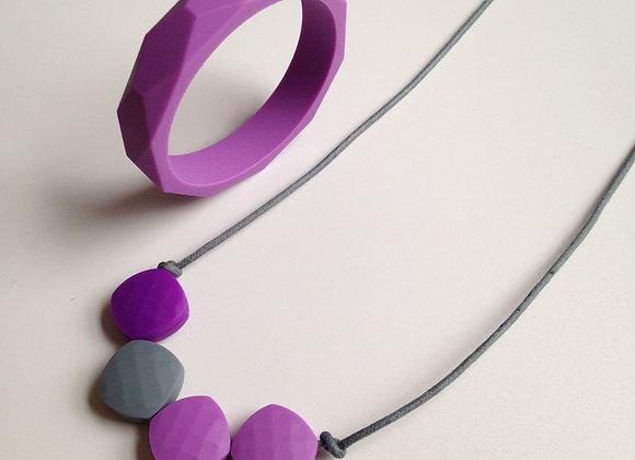 Purple Rain teething jewellery set