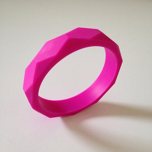 Fuchsia pink teething bangle