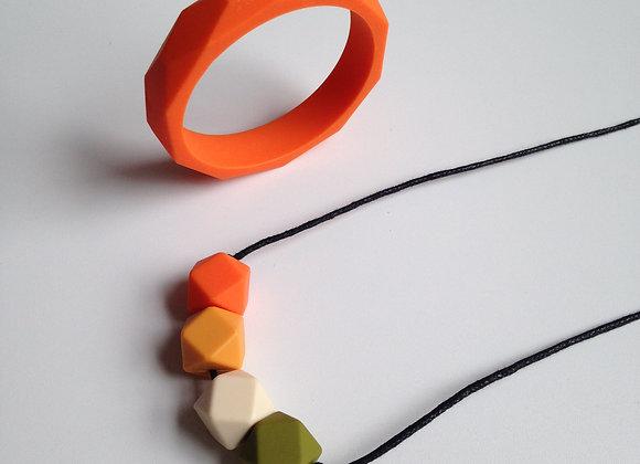 Mango Tango teething jewellery set