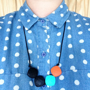 Quadrate Silicone Bead Teething Necklace