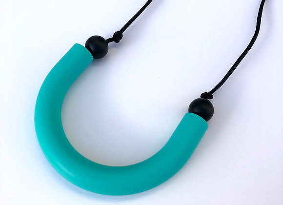 Turquoise U shaped teething pendant