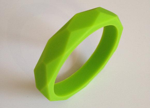 Chartreuse green teething bangle