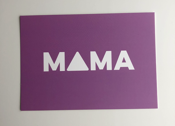 MAMA greeting postcard with handwritten message