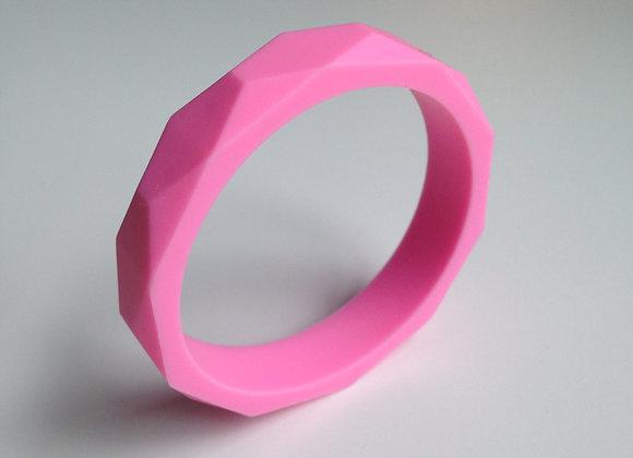 Pink teething bangle