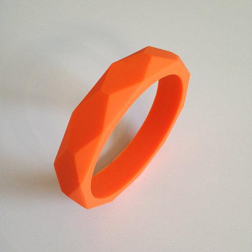 Orange teething bangle