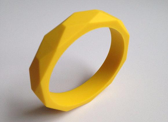 Yellow teething bangle