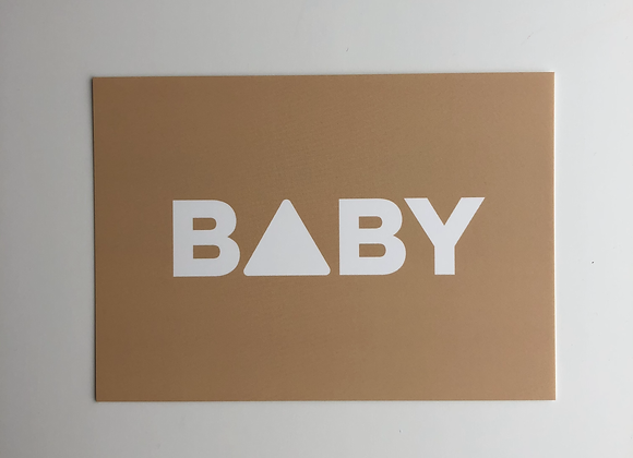 BABY greeting postcard with handwritten message