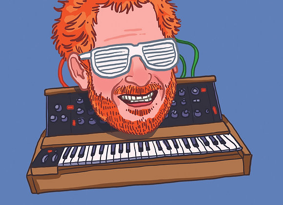 Synth Harry greeting card with handwritten message