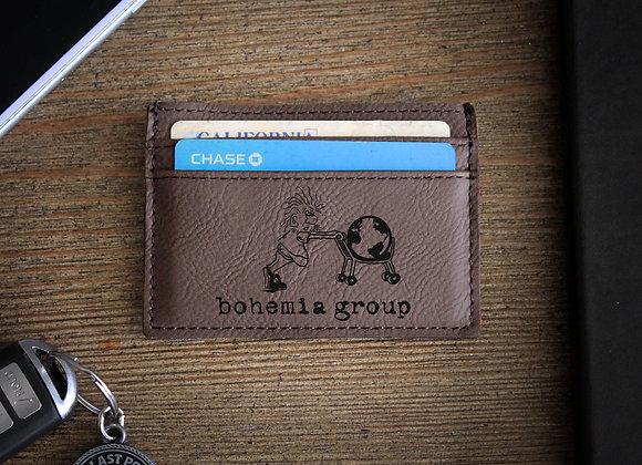 Dark Brown Leather Money Clip