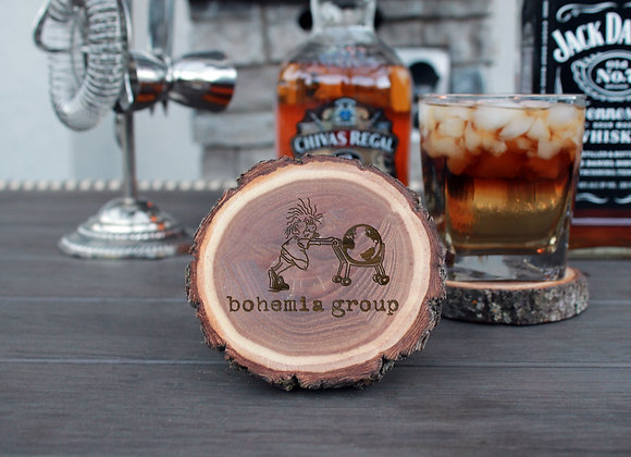 Wood Log Coasters (set of 4)